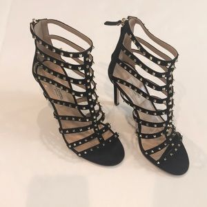 Valentino Shoes - Valentino rockstuds suede caged sandal